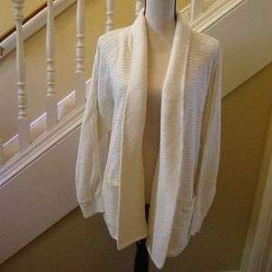 MADEWELL Harbor Cardigan Sweater Bright Ivory XL
